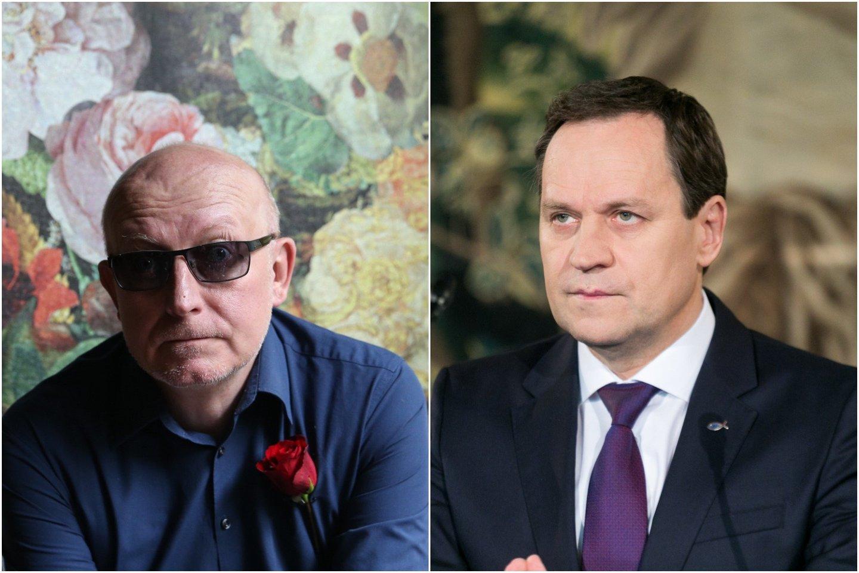 V.Tomaševskis (nuotr. dešinėje) nenorėjo plačiau komentuoti A.Valinsko samprotavimų apie šiam esą kilusią grėsmę.<br>lrytas.lt koliažas.