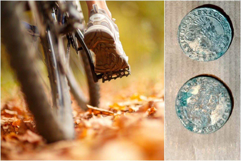 Grybautojas patyrė didžiausią gyvenime netikėtumą, kai nukritęs nuo dviračio, pataikė tiesiai į XVII amžiaus monetų lobį.<br>123rf / Szoik Rojewo nuotr.