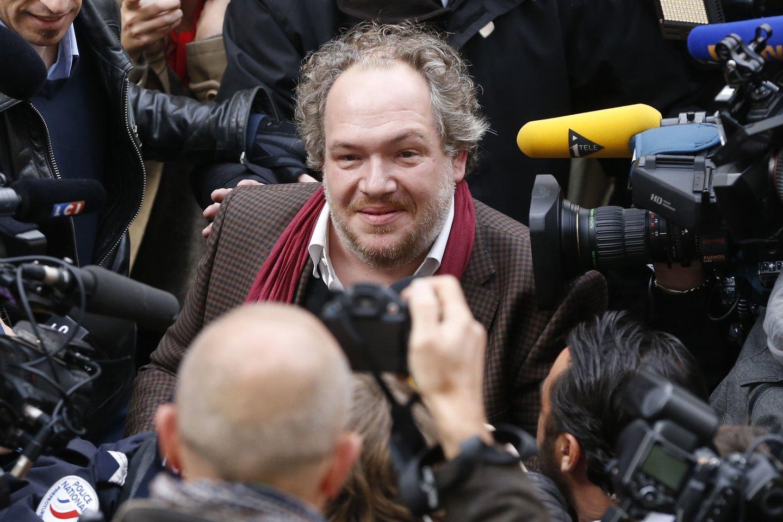 Prancūzų rašytojas M.Enard'as – tikra literatūros pasaulio žvaigždė, kurią medžioja fotografai, žurnalistai ir gausūs gerbėjai.<br>Scanpix nuotr.