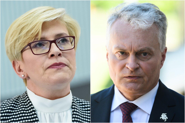 G. Nausėda su I. Šimonyte antradienį aptars kandidatus į ministrus.<br>lrytas.lt koliažas