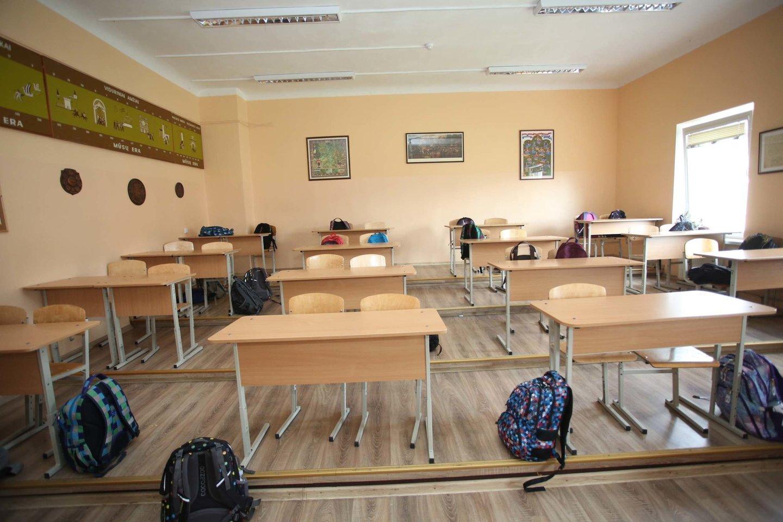 V.Kudirkos gimnazija, mokykla, mokiniai, švietimas, kuprinė, mokslas, klasė<br>M.Patašiaus nuotr.