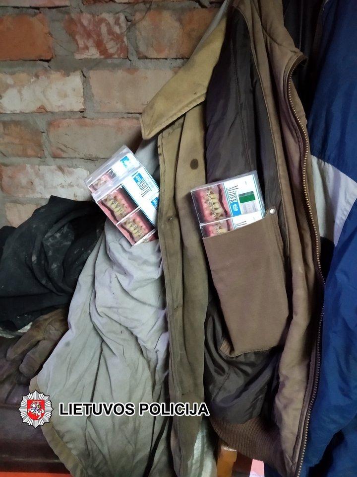 Sulaikyta cigarečių kontrabanda.<br>Lietuvos policijos nuotr.