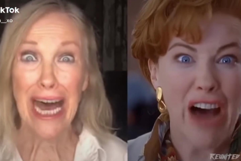 """Nuotaikinga """"Vienas namuose"""" scena sprogdina internetą: po 30 metų įsiamžino aktorė C. O'Hara.<br>Stop kadras."""