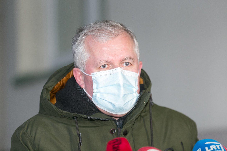 Prezidentas Gitanas Nausėda ketvirtadienį susitiko su į krašto apsaugos ministrus kandidatuojančiu konservatoriumi Arvydu Anušausku.<br>T.Bauro nuotr.