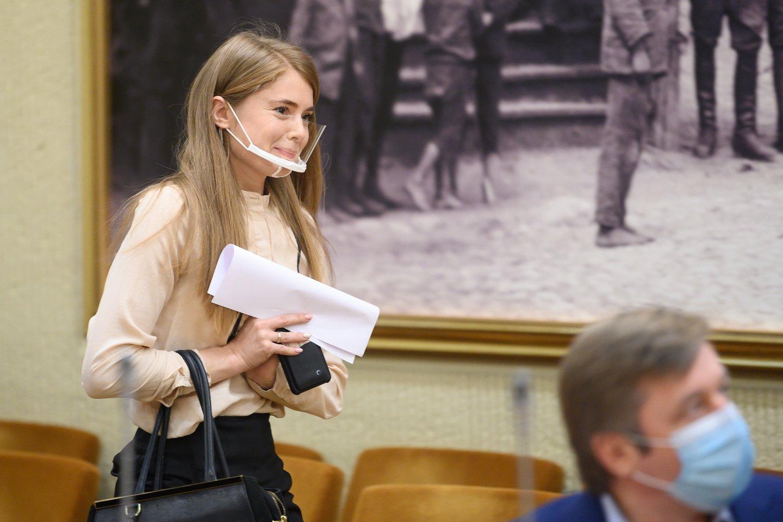 I.Kačinskaitė-Urbonienė teigė pažįstanti K.Masalską per partinę veiklą.<br>V.Skaraičio nuotr.
