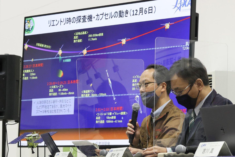 """Kapsulė sėkmingai atsiskyrė, kai zondas buvo už 220 tūkst. km nuo Žemės.<br>""""AFP/Scanpix"""" nuotr."""