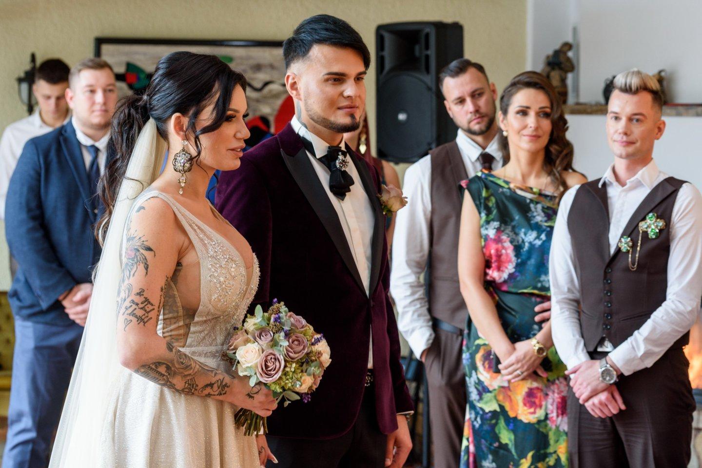 Justinos Globienės ir Vytenio Partiko vestuvių akimirkos.<br>A.Kubaičio nuotr.