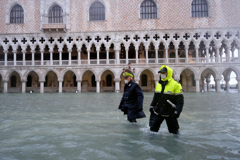 Potvynis Venecijoje.<br>Scanpix/Reuters/FP/Zuma nuotr.