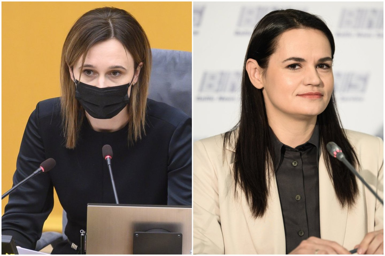 V. Čmilytė-Nielsen siūlo, kad Laisvės premiją galėtų atsiimti S. Cichanouskaja.<br>Lrytas.lt koliažas
