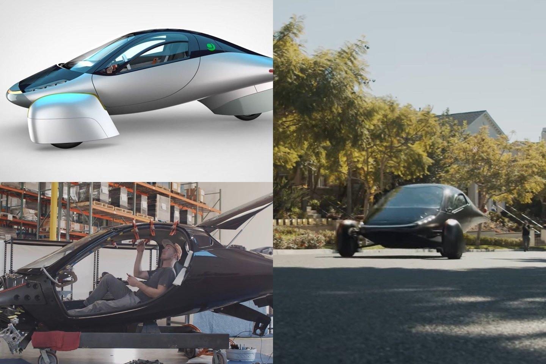 """""""Aptera"""" pristatė savo naujausią saulės energija varomą trijų ratų elektrinį automobilį.<br>lrytas.lt fotomontažas"""