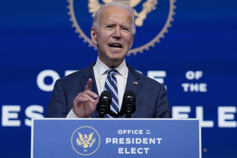 JAV Rinkikų kolegija patvirtino J. Bideno pergalę.<br>AP/Scanpix nuotr.