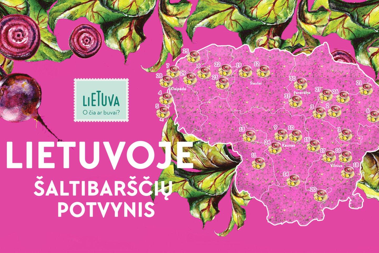 """Šaltibarščių žemėlapis.<br>""""Keliauk Lietuvoje"""" nuotr."""