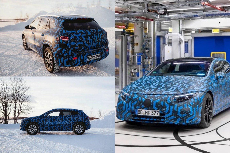 """""""Mercedes-Benz"""" visiems primena rimtai žiūrintys į elektromobilius ir pristato keletą naujų elektrinių automobilių prototipų.<br>lrytas.lt fotomontažas"""