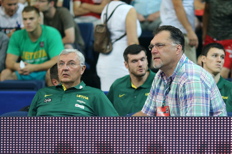 J.Kazlauskas ir A.Sabonis.<br>G.Šiupario nuotr.