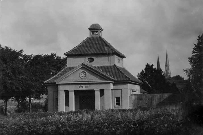Taip atrodė Klaipėdos žydų kapinių koplyčia.<br>F.Puzemskio archyvas.