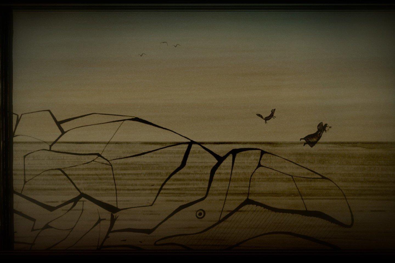Žaidime daug scrimshaw – meninių raižinių kauluose įkvėptos stilistikos.<br>Žaidimo ekrano nuotr.