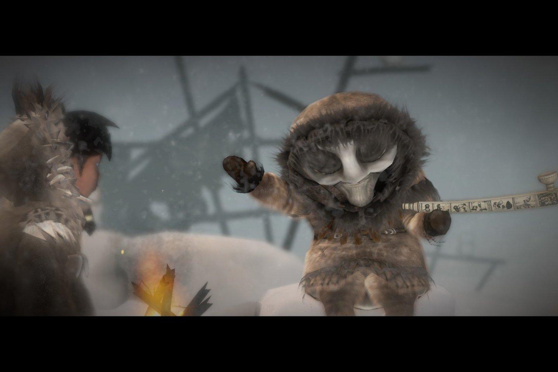 """""""Never Alone"""" stilistiškai yra """"platformeris"""" su galvosūkio elementais, tematiškai – mitologinis žaidimas.<br>Žaidimo ekrano nuotr."""