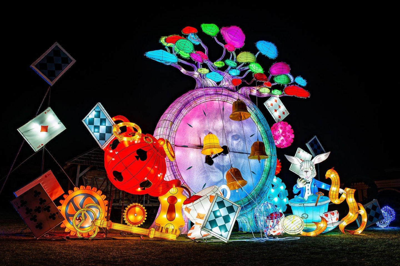 """Šviesos ir didžiųjų šilko žibintų festivalis """"Stebuklų šalyje"""".<br>Organizatorių nuotr."""