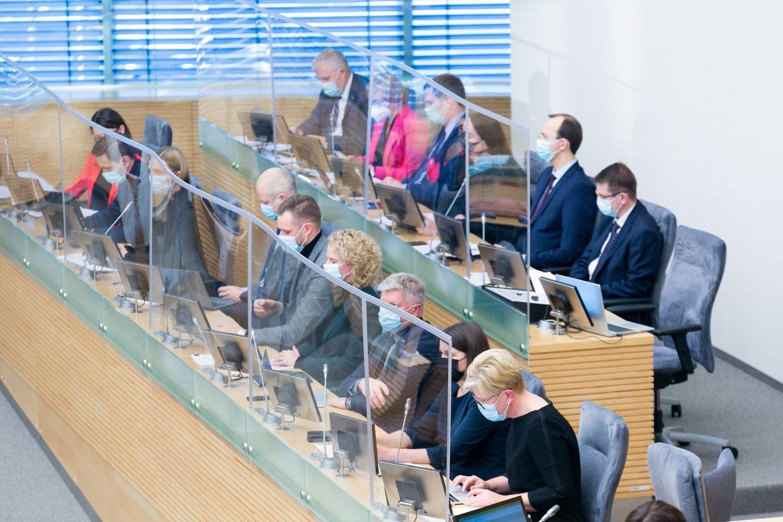 I.Šimonytės ministrų kabinėtas Vyriausybės valandos Seime metu.<br>T.Bauro nuotr.