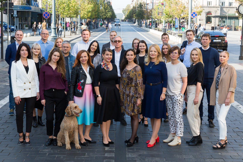 """Tradiciškai baigiantis metams """"Lietuvos ryto"""" žiniasklaidos grupės žurnalistai įvertinami už nuveiktus darbus.<br>T.Bauro nuotr."""