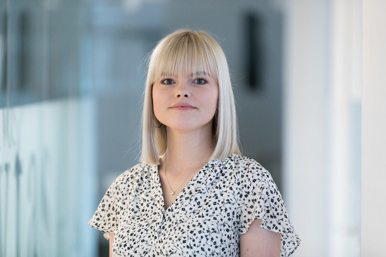 Video naujienų skyriaus redaktorė Gintarė Valancevičiūtė<br>T.Bauro nuotr.