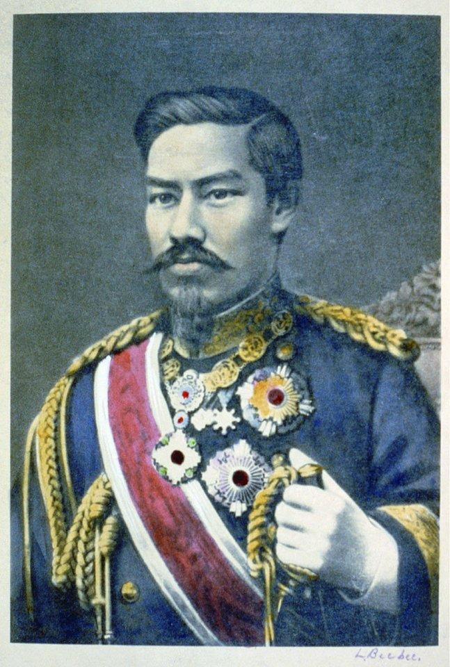 Imperatoriaus Meidžio portretas, apie 1904 m.<br>Leidėjų nuotr.
