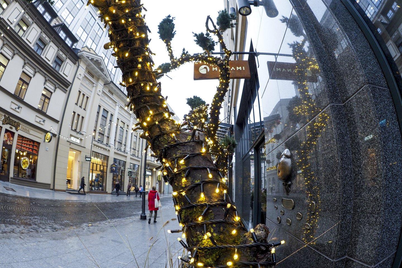 Kalėdos,girliandos,nauji metai,orai<br>V.Ščiavinsko nuotr.