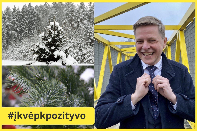 Vilniaus meras R. Šimašius kviečia sodinti Kalėdų mišką.<br>Lrytas.lt archyvo nuotr.
