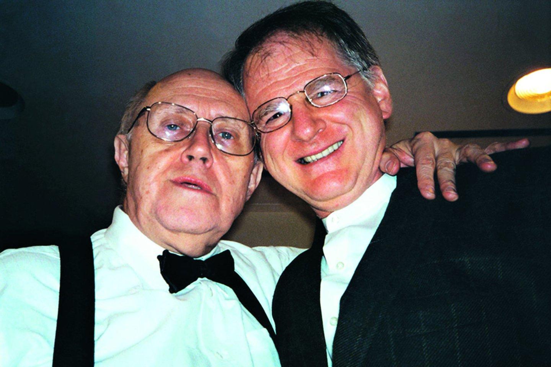 Daug metų S.Tacą ir violončelininką M.Rostropovičių siejo nuoširdi draugystė.<br>Nuotr. iš asmeninio albumo