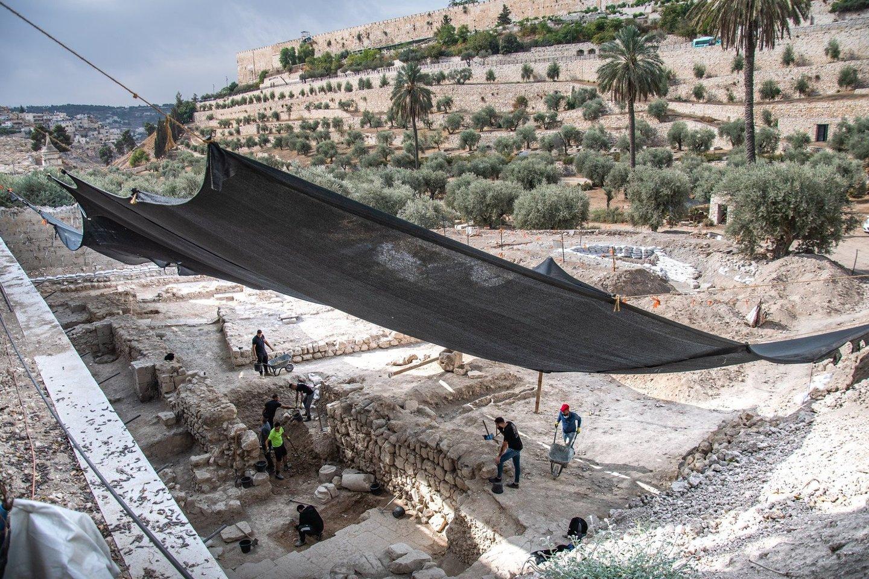 Izraelio senienų tarnybos kasinėjimai Bizantijos bažnyčioje.<br>IAA nuotr.