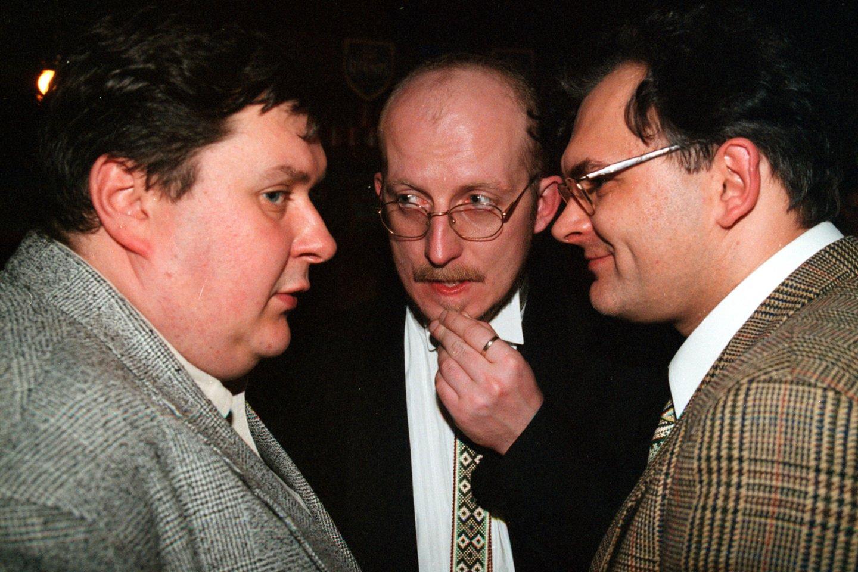 H.Mackevičius, A.Valinskas ir G.Ruplėnas.<br>J.Staselio nuotr.