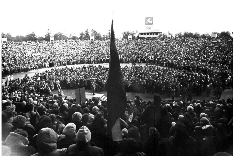 Sovietinėje estradoje - Sąjūdžio mitingai.<br>A.Stanevičiaus nuotr.