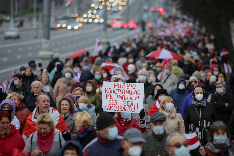 Baltarusijos stačiatikių bažnyčios vadovas – prieš jos įtraukimą į politinius kivirčius.<br>Reuters/Scanpix nuotr.