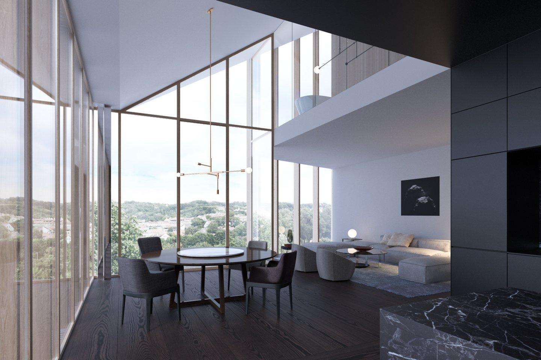 """Brangiausias butas parduotas projekte """"Misionierių sodai"""", už jį sumokėta 2,4 mln. eurų.<br>Bendrovės nuotr. ir vizual."""