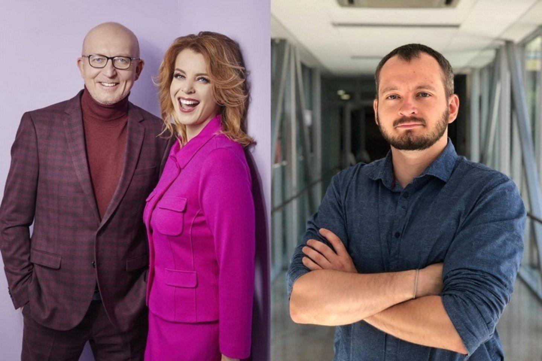 Arūnas ir Inga Valinskai ir Arūnas Valinskas jaunesnysis.<br>LR archyvas.