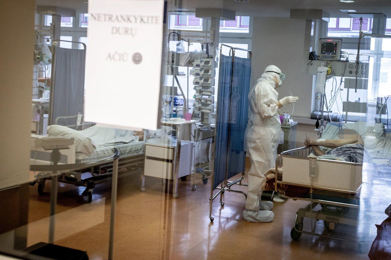 VUL Santaros klinikos, koronavirusas.<br>V.Balkūno nuotr.