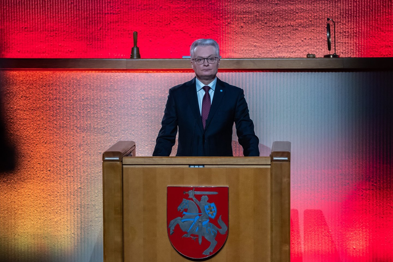 G.Nausėda.<br>Seimo kanceliarijos (O.Posaškovos) nuotr.