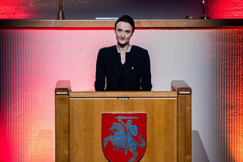 V.Čmilytė-Nielsen.<br>Seimo kanceliarijos (O.Posaškovos) nuotr.