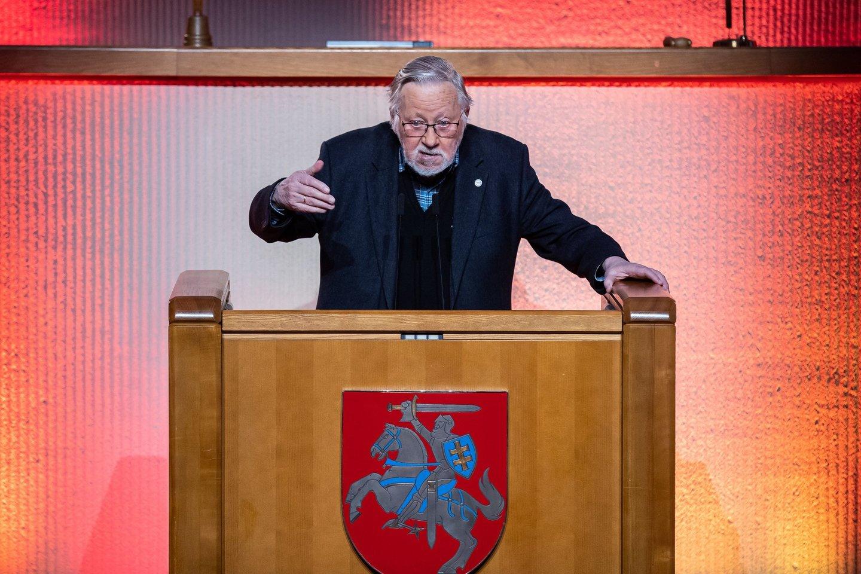 Vytautas Landsbergis.<br>Seimo kanceliarijos (O.Posaškovos) nuotr.
