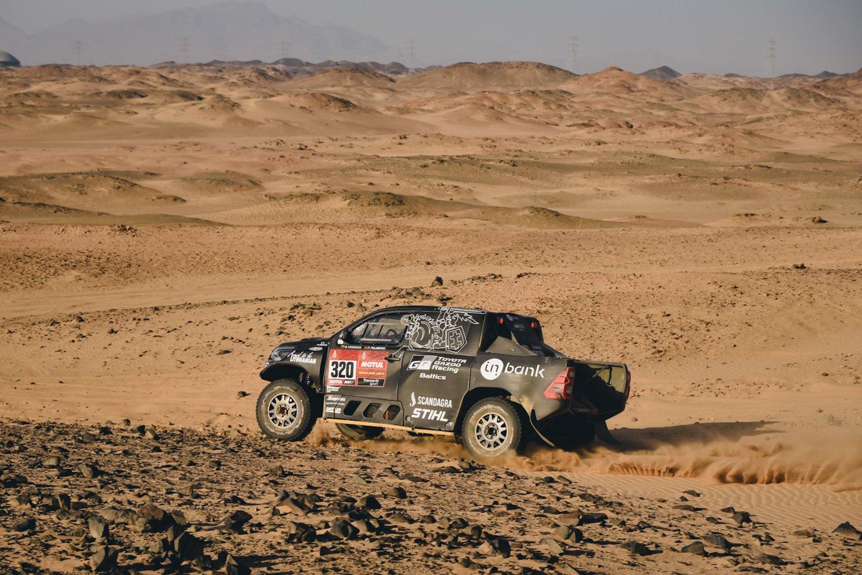 Dakare Lietuvai atstovaujantis lenktynininkas Benediktas Vanagas užėmė 8-ąją vietą.<br>Vytauto Pilkausko nuotr.