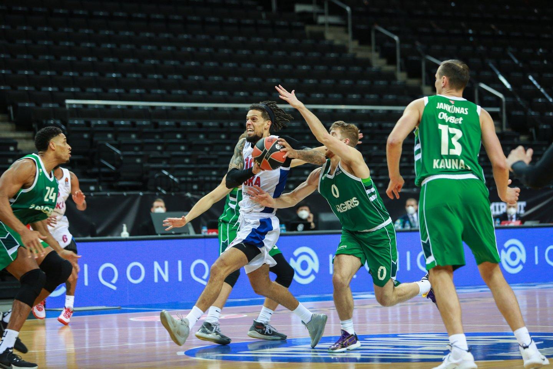 """Kauno """"Žalgirio"""" ir Maskvos CSKA dvikovą laimėjo Rusijos ekipa.<br>G.Bitvinsko nuotr."""