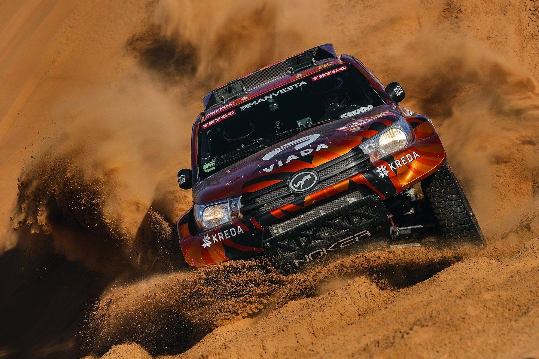 """Dakaro ralio vilku vadinamas Antanas Juknevičius (46 m.) šį sausį jau dvyliktą kartą stojo prie legendinių lenktynių starto linijos.<br>""""Scanpix"""" nuotr."""