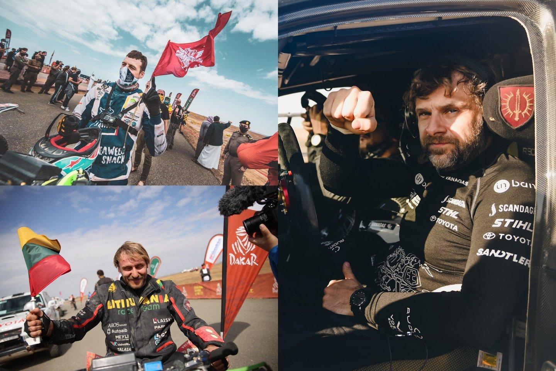 Viskas, kas prasideda, kada nors ir baigiasi. Legendinis Dakaro ralis baigėsi ten, kur prieš beveik porą savaičių ir prasidėjo, – vasariškoje Džidoje.<br>lrytas.lt fotomontažas