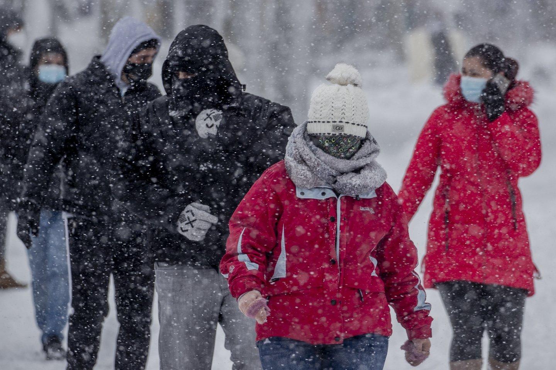 Profesorius pabrėžia, kad būtina stebėti oro sąlygas, vengti didelio vėjo, nes šis gali nudeginti.<br>Scanpix/AFP/Reuters nuotr.