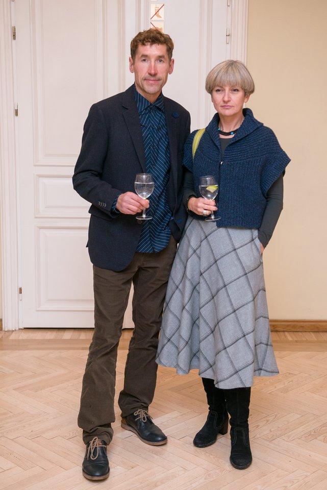 Mindaugas Šventoraitis su buvusia žmona Migle.<br>J.Stacevičiaus nuotr.