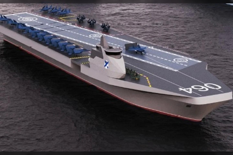 Rusijos projektavimo biuras pateikė naujojo lėktuvnešio iliustraciją.<br>Nevos dizaino biuro iliustr.
