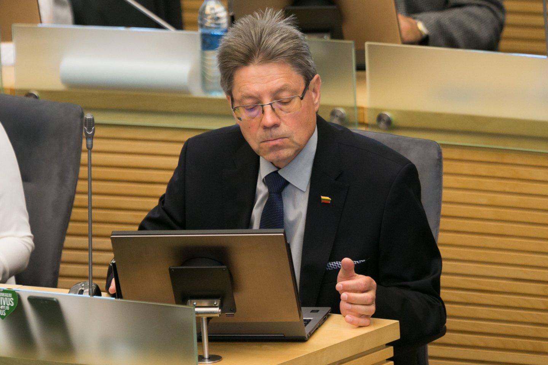 Stasys Šedbaras ragina spartinti teismų pirmininkų paskyrimą.<br>T.Bauro nuotr.