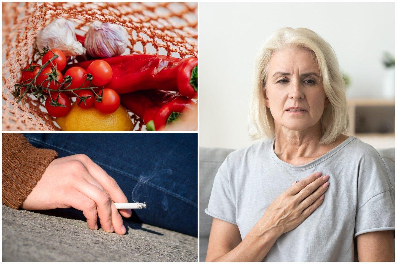 Žmonėms, kurių cholesterolio lygis kraujyje yra per aukštas svarbu nepamiršti 5 svarbiausių su sveikata susijusių patarimų.<br>lrytas.lt koliažas