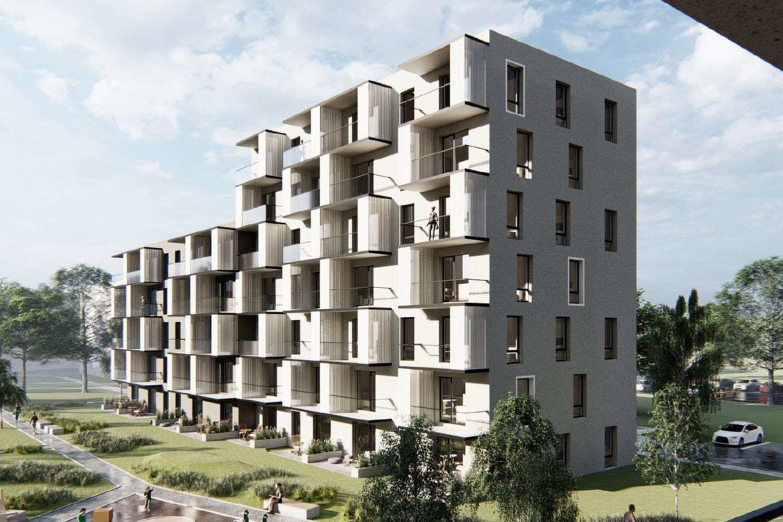 """Bendrovė """"Eventus Pro"""" sausio 18 d. per viešą transliaciją pristatė neužstatytame sklype Šeškinėje, Gelvonų g. 64, planuojamą daugiabučių gyvenamųjų namų statybos projektą, kur aplinkinių gyventojų pastabas išgirdo ir Vilniaus miesto savivaldybė.<br>Vizual."""