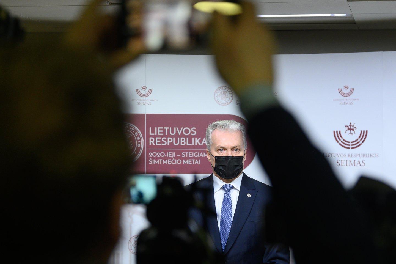Prezidentas Gitanas Nausėda<br>V.Skaraičio nuotr.